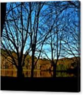 Fall Silhouette Canvas Print