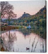 Fall Sugarloaf With Duck Painting Canvas Print