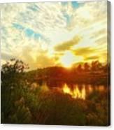 Fall Sunset At Lake Murray San Diego Canvas Print