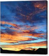Fall Sunset Canvas Print