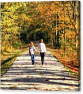 Fall Walk In The Woods Canvas Print