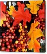 Fall Wreath Canvas Print