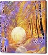 Falled Moon Canvas Print