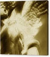 Fallen Angel Vertical Gold Canvas Print