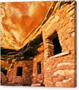 Fallen Roof Granary Canvas Print