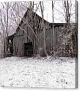 Falling Barn Canvas Print
