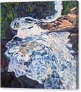 Falling Down Ragged Canvas Print