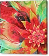 Falling Flower Canvas Print