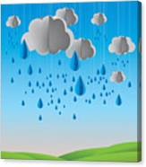 Falling Rain Canvas Print