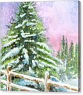Falling Snowflakes Canvas Print