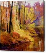 Fall's Creekside Canvas Print