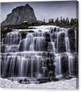 Falls In Glacier 1 Canvas Print
