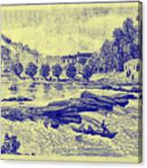 Falls Of The Schuylkill And Fort St Davids 1794 Canvas Print