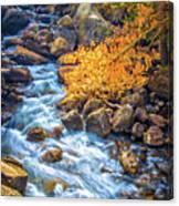 Fall's Rush To South Lake Canvas Print