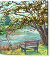 Fallsmead Lake In Potomac Md Canvas Print