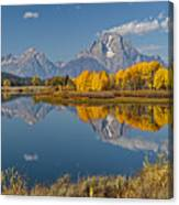 Falltime At Oxbow Bend Canvas Print