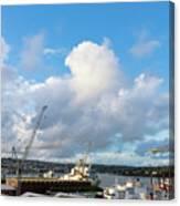 Falmouth Docks Cornwall Canvas Print