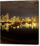 False Creek At Night Canvas Print