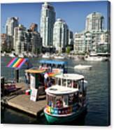 False Creek In Vancouver Canvas Print
