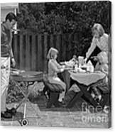 Family Bbq, C.1960s Canvas Print