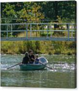 Family Boating If Forest Park Canvas Print