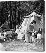 Family Camping, C.1970s Canvas Print