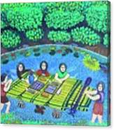 Family Picnic In Palau Canvas Print