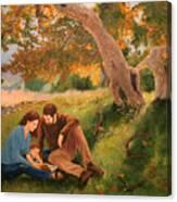 Family Portrait Under A Tree Canvas Print