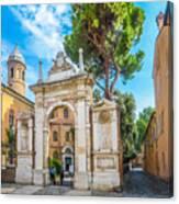 Famous Arc From Basilica Di San Vitale In Ravenna, Italy Canvas Print
