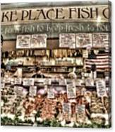 Famous Fish At Pike Place Market Canvas Print