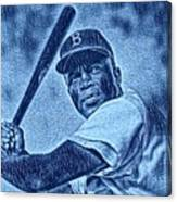 Famous Jackie Robinson Canvas Print