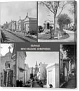 Famous New Orleans Cemeteries  Canvas Print