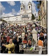 Famoust Spanish Steps In Rome Canvas Print