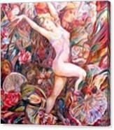Fan Dance Unveiled Canvas Print