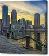 Fan Pier Boston Harbor Canvas Print