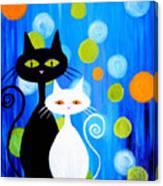 Fancy Cats Canvas Print