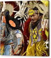 Pow Wow Fancy Dancers 7 Canvas Print
