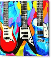 Fancy Guitars Canvas Print