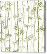 Fancy Japanese Bamboo Watercolor Painting Canvas Print