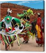 Fancy Shawl Dancer At Star Feather Pow-wow Canvas Print