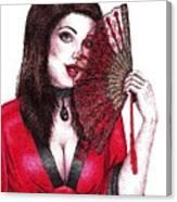 Fanning Flirtation Canvas Print