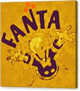 Fanta Old School Pop Art Pur Canvas Print