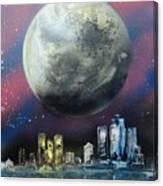 Fantasy Detroit Canvas Print