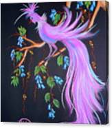 Fantasy Feather Bird Canvas Print