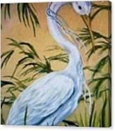 Fantasy Heron Canvas Print