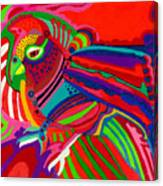Fantasy Parrot Canvas Print