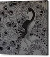 Fantasy Peacock Canvas Print