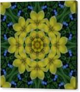 Fantasy Plumeria Decorative Real And Mandala Canvas Print