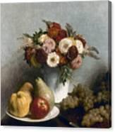 Fantin-latour: Fruits, 1865 Canvas Print