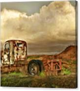 Far Rusted Truck Canvas Print